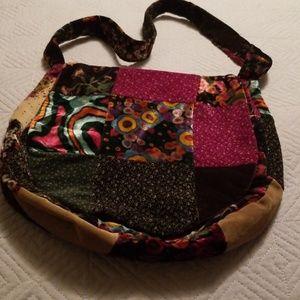 Handbags - Velour hobo bag